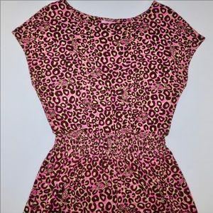 Lilly Pulitzer Pink/brown leopard medium dress